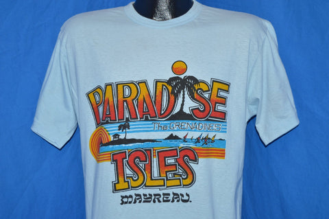 80s Paradise Isles Grenadines Mayreau Sunset Beach t-shirt Large