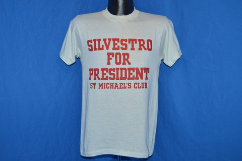 80s Silvestro For President Distressed t-shirt Small