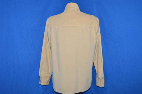 70s Big Yank Cream Twill Pearl Snap Shirt Medium