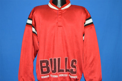 90s Chicago Bulls Pullover Track Jacket Large