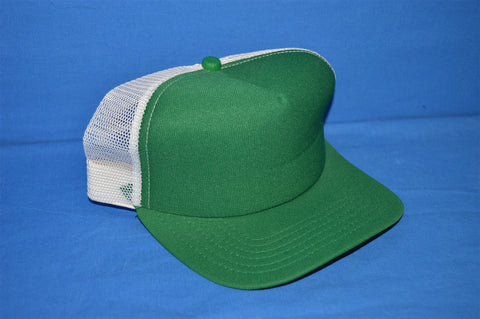 80s New Era Green White Mesh Trucker Hat