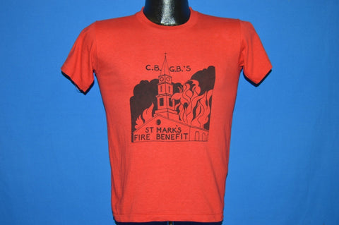 70s CBGB's St Mark's Fire Benefit t-shirt Medium