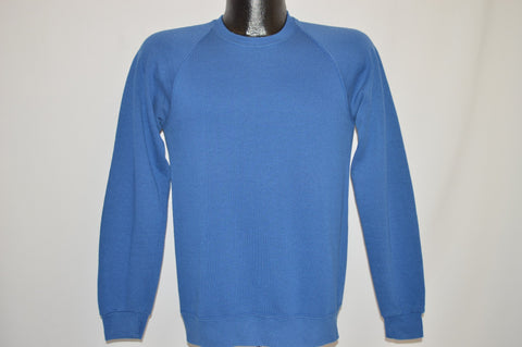 90s Jerzees Blank Blue Sweatshirt Youth Extra Large