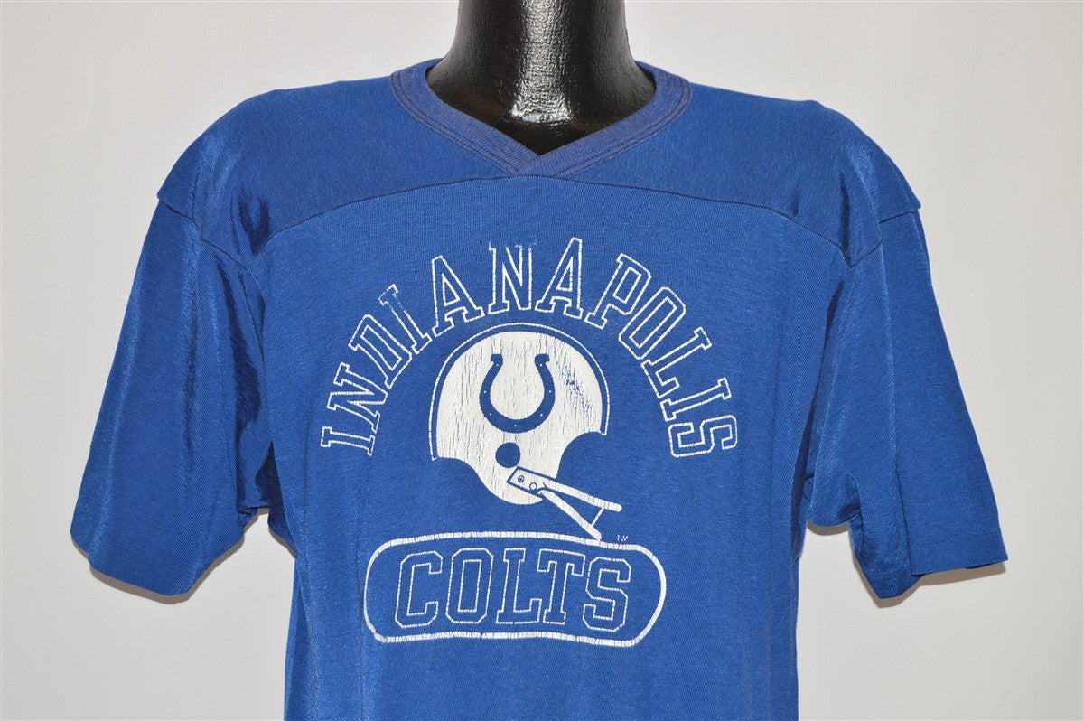 80s Indianapolis Colts Helmet Jersey t-shirt Large - The Captains Vintage 68daef44c