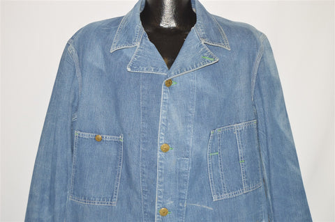 40s Osh Kosh B'gosh Engineer Chore Denim Jacket Extra Large