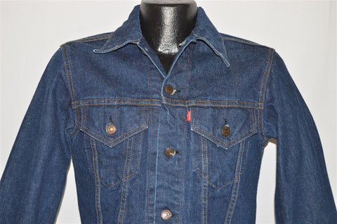 70s Levis Trucker Type 3 Dark Denim Jacket Small