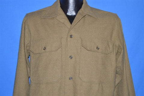 40s WW2 Green Wool Military Uniform shirt Small