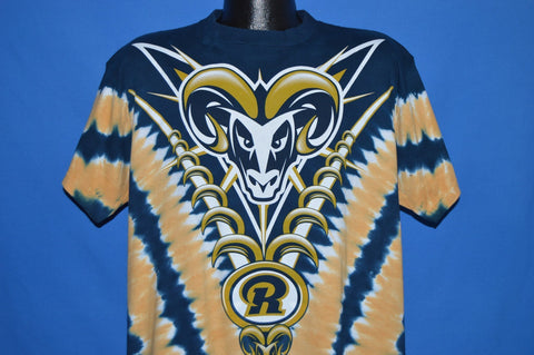 90s St. Louis Rams Tie Dye Football NFL t-shirt Large