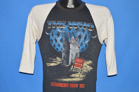 80s The Who Rock Band American Tour 1982 t-shirt Small