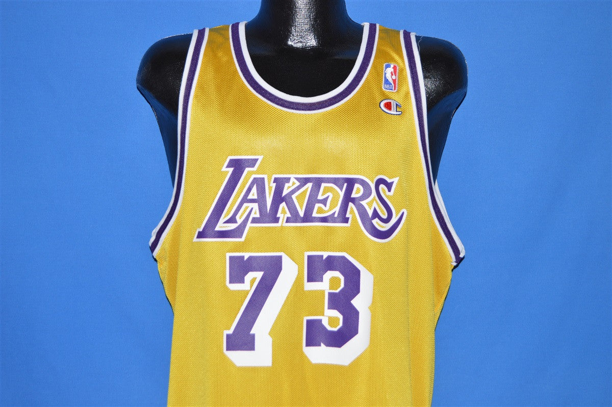 48cc2341407 ... low cost 90s los angeles lakers dennis rodman jersey t shirt extra  large . 4fa01 b117f