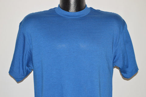 80s Royal Blue Blank Deadstock t-shirt Medium
