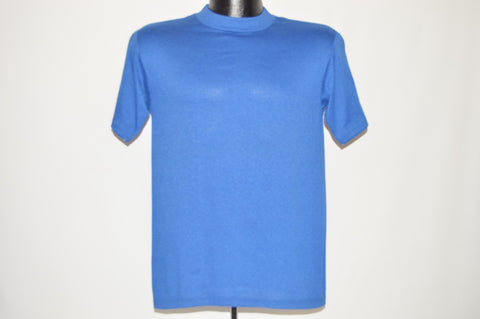 80s Miller Blue Blank Deadstock t-shirt Small