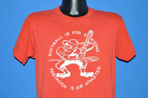 80s Softball Is For Everyone Fastpitch Red t-shirt Medium