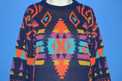 90s Sergio Abstract Native American Sweater Youth Medium