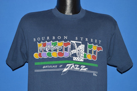 80s Bourbon Street Birthplace of Jazz t-shirt Large