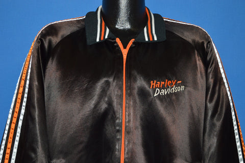 80s Harley Davidson Bartels Racing Team Satin Jacket Extra Large