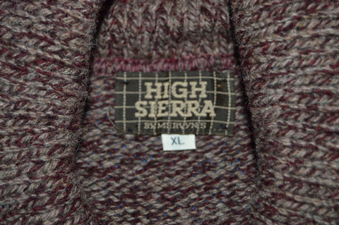 80s High Sierra Wool Shawl Neck Sweater Extra Large