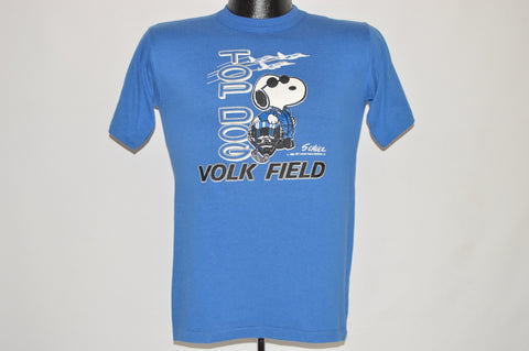 80s Snoopy Top Dog Jet Pilot Volk Field t-shirt Small