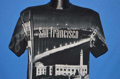 90s San Francisco All Over Print Golden Gate t-shirt Medium