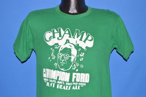 80s Champion Ford Just Beats All Green t-shirt Small