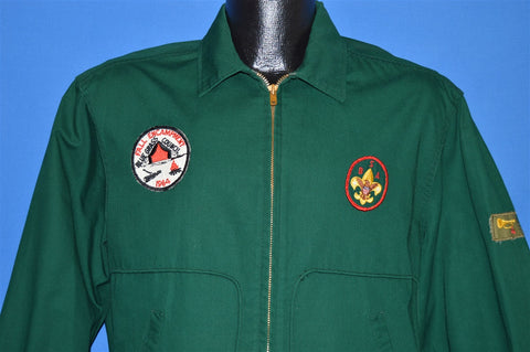 60s Boy Scouts 1964 Camping Patches Jacket Large