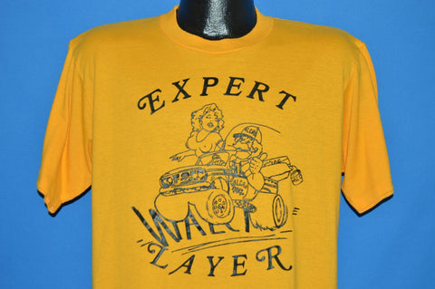 80s Walcro Expert Layer Funny Yellow t-shirt Large