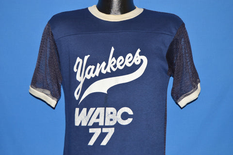 80s New York Yankees WABC Mesh Jersey t-shirt Medium