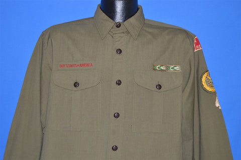 50s Boy Scouts Of America Wool Uniform shirt Large