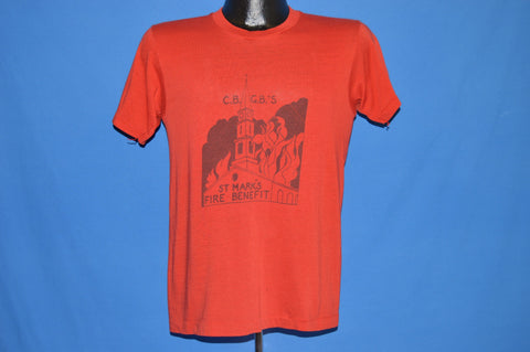 70s CBGB's St. Mark's Fire Benefit t-shirt Small