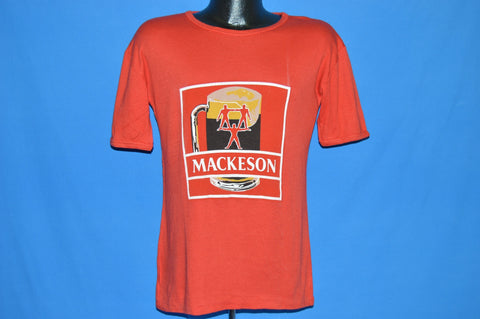 80s Mackeson Stout Beer Label Red t-shirt Medium