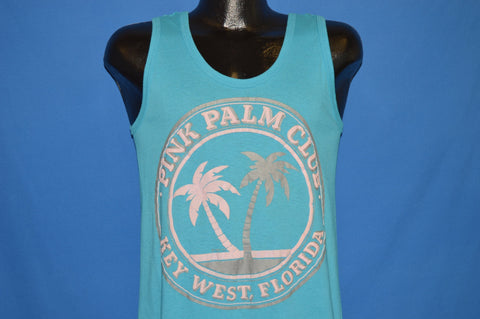 80s Pink Palm Club Key West Florida Tank Top t-shirt Small