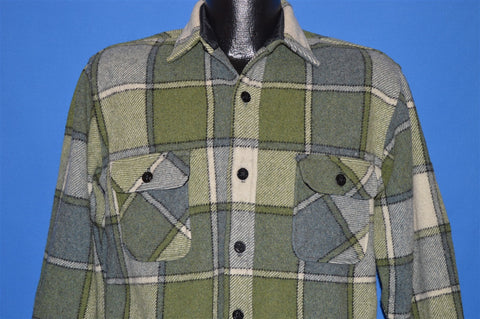 70s Towncraft Plaid Heavy Wool Jacket shirt Small