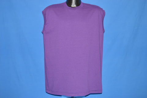 80s Jerzees Purple Sleeveless Blank t-shirt Large