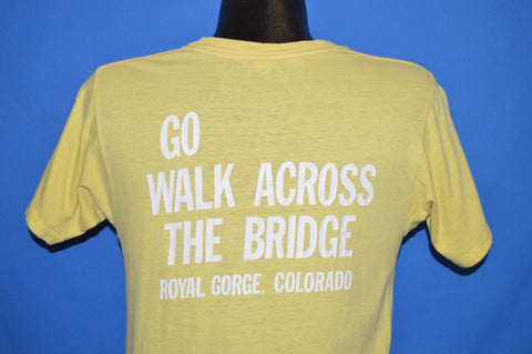 70s Colorado Royal Gorge Bridge Rainbow Footprints t-shirt Small