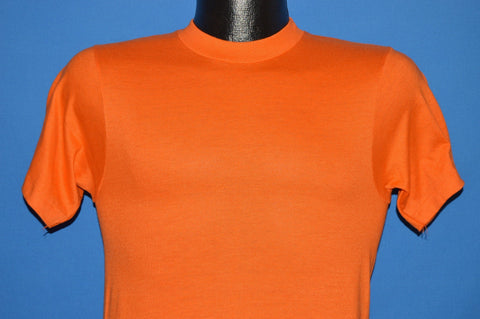 80s Hanes Blank Deadstock Orange t-shirt Extra Small