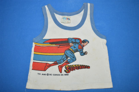 80s Superman DC Comics Tank Top Baby 18 Months