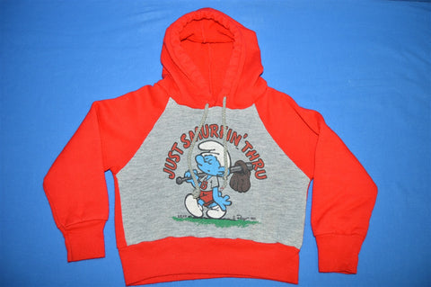 80s Smurfs Baseball Sweatshirt Toddler 2T