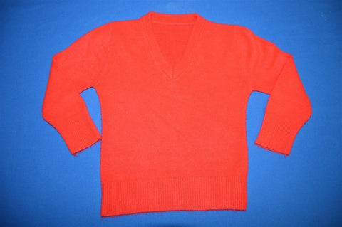 80s Red V-Neck Baby Sweater 12-18 Months