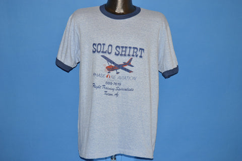 80s Phase One Aviation Flight School t-shirt Large