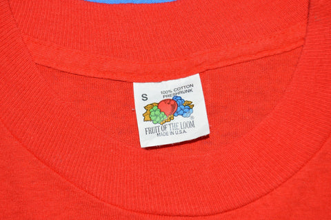 80s Red Pocket Tee Fruit of the Loom t-shirt Small