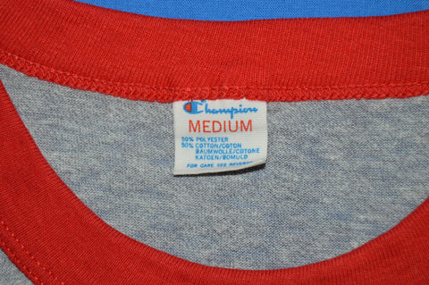 80s SUNY Potsdam College Striped Ringer t-shirt Small