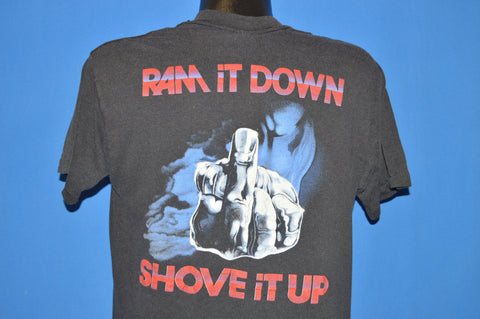 80s Judas Priest Ram It Down Shove It Up Rock t-shirt Large
