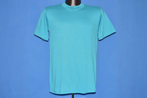 80s Aqua Blue JERZEES Blank t-shirt Small