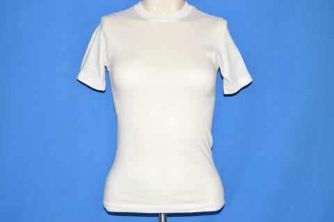 70s White Blank Munsingwear Undershirt t-shirt Youth Large