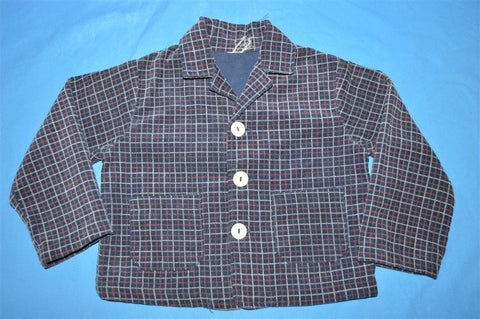70s Plaid Corduroy Sport Coat Suit Jacket Toddler 2T