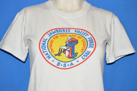 50s Boy Scouts 1957 National Jamboree t-shirt Youth Large