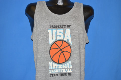 80s USA National Basketball Team Tour 1988 t-shirt Medium