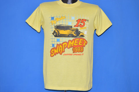 80s Stafford Springs Ty-Rods Swapmeet 1988 t-shirt Medium
