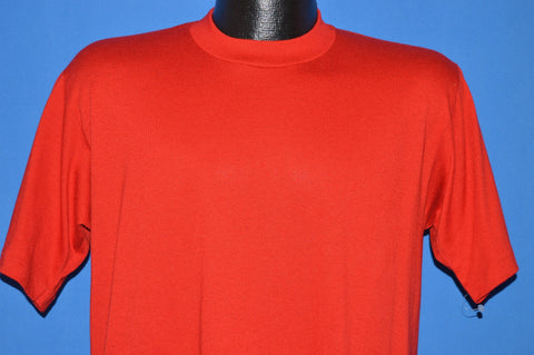 80s Unworn Blank Red Jerzees t-shirt Medium