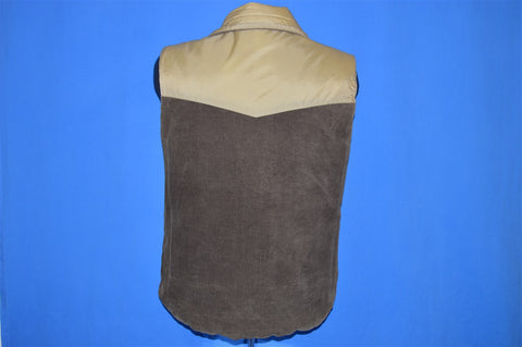 70s Weeds Brown Corduroy Reversible Ski Vest Small